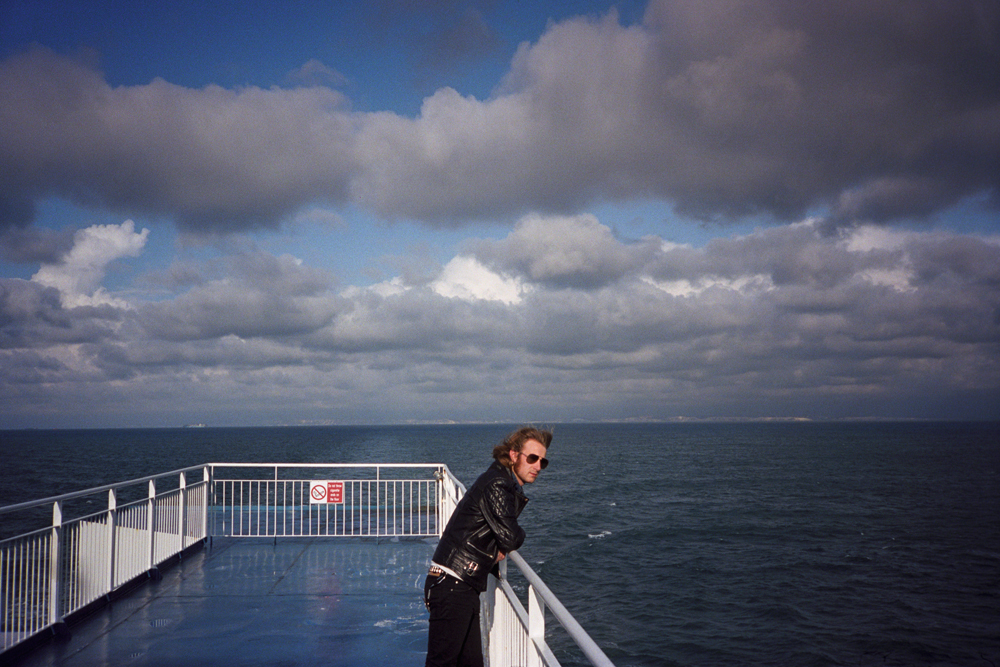Frontman at sea